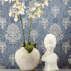 Use wallpapers in unexpected places: on the ceiling, in paneled rooms, in closets, hallways and small foyers. A great texture pattern in small spaces can create a prodigious twist! #skaffgroup #skafflebanon #skafffabrics #skaffinteriors #interiordesign #homedecor #homedesign #interiordesigners #wallpaper #upholstery