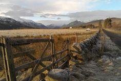 Glen Clova alongside a country path