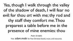 Psalm 23 - Christian Scripture Video - Bible Verse Memorization - KJV - God's Protection