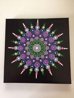 A personal favorite from my Etsy shop https://www.etsy.com/listing/509926313/hand-painted-mandala-on-canvas-dot-art