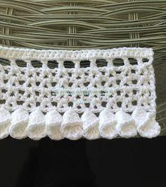 Crochet Lace Trim with 'Petal Cones' Crochet Blanket Edging, Crochet Edging Patterns, Crochet For Beginners Blanket, Crochet Motifs, Crochet Borders, Freeform Crochet, Crochet Chart, Crochet Trim, Crochet Designs