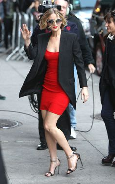 Jennifer Lawrence |.| Late how With David Letterman - Antonio Berardi
