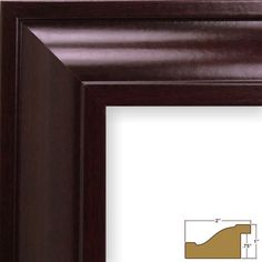 Craig Frames 76047 24 by Picture Frame, Smooth Wood Grain Finish, Wide, Dark Mahogany