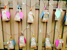 cutest idea... owl themed birthday party and these are the goodie bags!