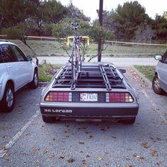 DeLorean + Bike
