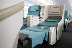 Korean Air prestige seats with privacy compartments for long trips