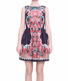 Red Valentino Dress printed faille | Lindelepalais.com 17532