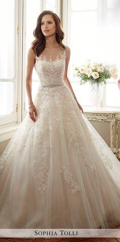 Sophia-Tolli-a-line-sleeveless-wedding-dresses-2017.jpg (600×1212)