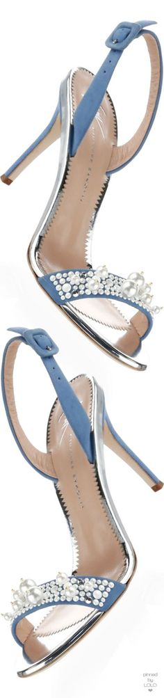 Giuseppe Zanotti Faux Pearl Embellished Leather Sandals