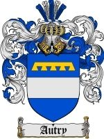 Autry Coat of Arms / Family Crest Emailed to you in a 400 dpi JPEG file (or pdf upon request). The file will arrive in your email within 48 hours.  .......................................  KEYWORDS: family, shield, shields, heraldry, code of ar...