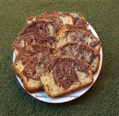 Chec marmorat - Bunătăți din bucătăria Gicuței Banana Bread, Desserts, Food, Tailgate Desserts, Deserts, Essen, Postres, Meals, Dessert