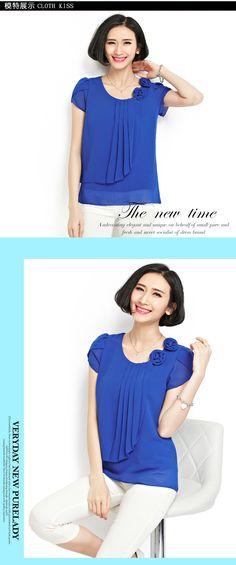 Blusa de chiffon 2016 verão tops mulheres camisas Blusas soltas Casual O Neck manga Curta camisa blusas plus size blusas feminina 4XL em Blusas de Moda e Acessórios no AliExpress.com | Alibaba Group