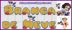 Salve o monograma completo aqui: http://dinhapontocruz.blogspot.com.br/2014/11/monograma-branca-de-neve.html
