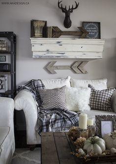 Rustic Wooden Arrows And Signs   WilliamRaeDesigns. Fall Living RoomWoodland  Living RoomBasement Decorating ... Part 70