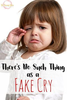 Kids will fake cry to get what they want. But we can reframe this misconception to see a fake cry as communication, and can therefore help with emotion expression. #boysparenting