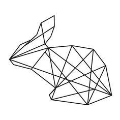 Druckbare minimalistisch geometrische Kaninchen von ParagonProdigy