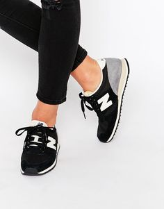 Image 1 of New Balance Black Suede 420 Trainers