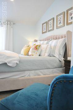 Suburbs Mama: Master Bedroom Makeover Valspar Cool Elegance