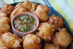 @Justin Dickinson Briggs @Lily Morello Cardoso Trinidad Salt Cod Fritters with Pepper Sauce   by Andrew Zimmern   on Andrew Zimmern.com