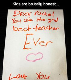Funny pictures about Kids are honest. Oh, and cool pics about Kids are honest. Also, Kids are honest. Funny Note, The Funny, Things Kids Say, Funny Test Answers, Top 5, Teacher Humor, Classroom Humor, Teacher Quotes, Kids Writing
