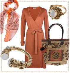 #Eleganter #Ethno #Stil by Brigitte von Boch #orange