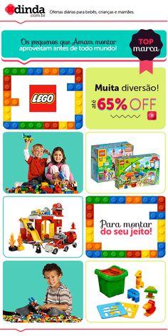 E-mail para divulgação da campanha Lego com gif animado.
