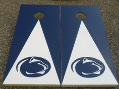 for ben - Sports Theme Gift - PENN STATE Football - Custom Cornhole Corn Hole Baggo Board Game Set - Fathers Day Present