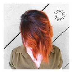 orange hair // balayage // hairpainting // fall hair // autumn color // color melt // orange ombre