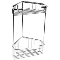 Gedy Wire Corner Double Shower Basket 2482 by Gedy. $70.00. Double tier. Contemporary design. Corner wall wire shower basket. Made out of cromall. Contemporary style wall mounted corner wire double tier shower basket. Corner shower organizer made out of cromall with a polished chrome finish. Two shelf bath shower caddy easily attached to the wall with screws. Made in Italy by Gedy. Corner wall wire shower basket. Double tier. Contemporary design. Made out of cromall. Polished ...