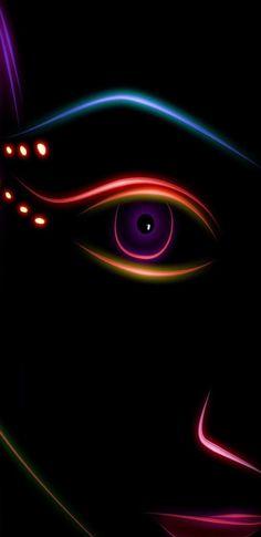 Dark, Neon, face, wallpaper, pattern, galaxy, colour, abstract, digital art, s8, walls, Samsung, galaxy s8