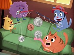 Quarters, dimes, nickels, and pennies! Kids practice identifying US coins in this interactive money math game. Second Grade Games, 2nd Grade Math, Money Worksheets, Worksheets For Kids, Learning Games, Kids Learning, Money Math Games, Identifying Coins, Writing Games