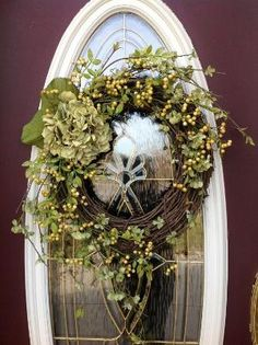 Spring Wreath Summer Wreath Grapevine Door by AnExtraordinaryGift, $75.00 by bettye