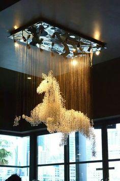 Inspired Decor The most amazing horse chandelier EVER!The most amazing horse chandelier EVER! Home Design, Interior Design, Plan Design, Modern Interior, Design Design, Horse Art, My New Room, Chandeliers, Chandelier Art