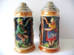 Vintage Salt and Pepper Shakers  Hand Painted by PortugueseWonders, $23.50 #promooasis