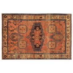 """Check out this item at One Kings Lane! Antique Persian Heriz, 4'2"""" x 6'6"""""""