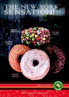 Cronuts - now available at Coffeeshop Company Shop Dr. Karl Lueger Platz, Vienna and Thalia Mariahilfer Strasse, Vienna.  Enjoy the New York sensation now in Vienna!