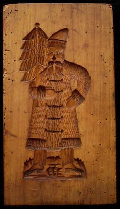 Springerle Mold - Father Christmas. Repinned by www.mygrowingtraditions.com