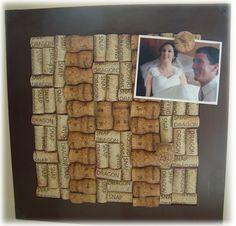 Simply Me: Wine Cork Bulletin Board