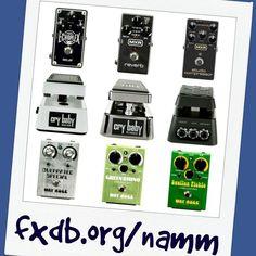9 new pedals from @jimdunlopusa @thenammshow! fxdb.org/namm  #namm #namm16 #namm2016 #nammshow #nammshow16 #nammshow2016 #thenammshow #effectsdatabase #fxdb #gearphoria #iheartguitar #geartalk