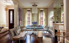 A CLASSIC UPPER EAST SIDE TOWNHOUSE GETS A FUNKY UPDATE Designer Blair Harris injects humor and color into a sophisticated New York space.  from @Domaine