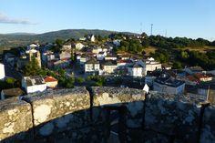 Vistas de Castro Caldelas desde su castillo, Ribeira Sacra