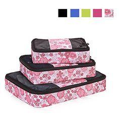 Nuova offerta in #bagaglio : Veevan Cubi di Imballaggio Organizer da Viaggio - Set di 3(Sakura) a soli 17.84 EUR. Affrettati! hai tempo solo fino a 2016-08-21 21:45:00