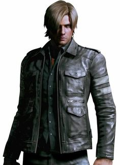Resident Evil 6 Leon Kennedy Leather Jacket Halloween Costume  Game Resident Evil 6 Leon Kennedy Leather Jacket Available Here, Buy and Enjoy Discounted Price at Celebswear.com - Shop For A New Lifestyle.