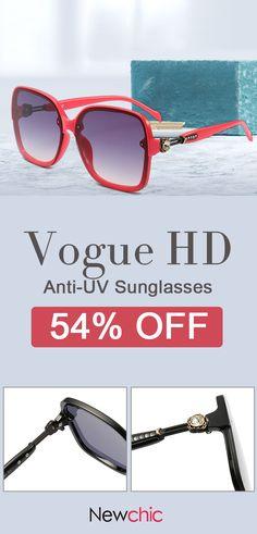 5be10a778b3 Women Men Vogue HD Anti-UV PC Sunglasses Fashion Travel Riding Driving  Sunglasses