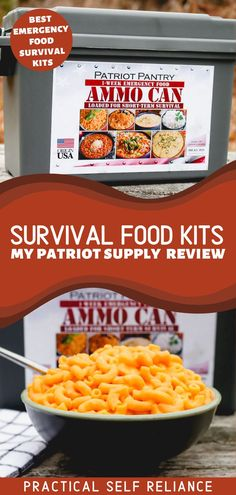 Survival Food Kits: My Patriot Supply Review - If you're thinking about purchasing a short or long term survival food kit, you may be wondering what the best emergency food survival kits are. In this review, I'll go over my Patriot food supply kit and the various types of food you can expect, and how they hold up once cooked. emergency preparedness food storage | 72 hour emergency kits food | survival foods that last forever | food for emergencies survival kits | prepper food storage Survival Food Kits, Emergency Preparedness Food Storage, Prepper Food, Emergency Survival Kit, Best Emergency Food, 72 Hour Emergency Kit, My Patriot Supply, Food Lists, Diy Food