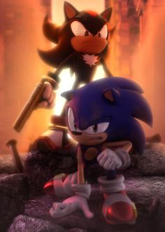 Shadow and sonic the hedgehog