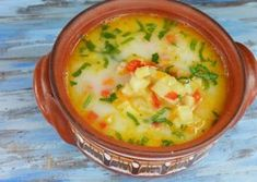 Ciorba de dovlecei a la grec Cheeseburger Chowder, Thai Red Curry, Soup, Ethnic Recipes, Greece, Breads, Meals, Bebe, Soups