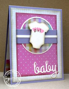 SugarPea Designs Welcome Baby, SugarCuts Welcome Baby Accents, and SugarCuts Baby Diaper Pin by Kim O'Connell
