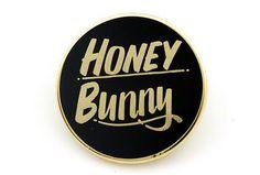 Baron Von Fancy - Honey Bunny Pin - Black and Gold