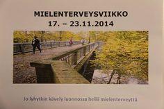 Mielenterveysviikon näyttely Porvoon Laurea-kirjastossa.